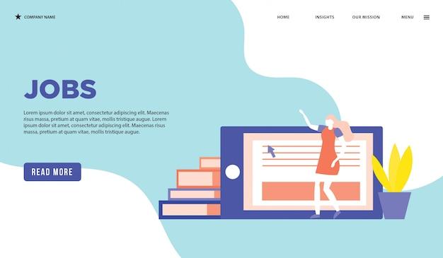 Página da web de trabalhos