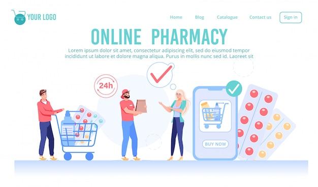 Página da web do serviço de farmácia on-line 24 horas por dia