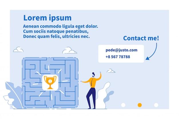 Página da web para service show direction to success