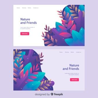 Página de aterragem da natureza com vegetação