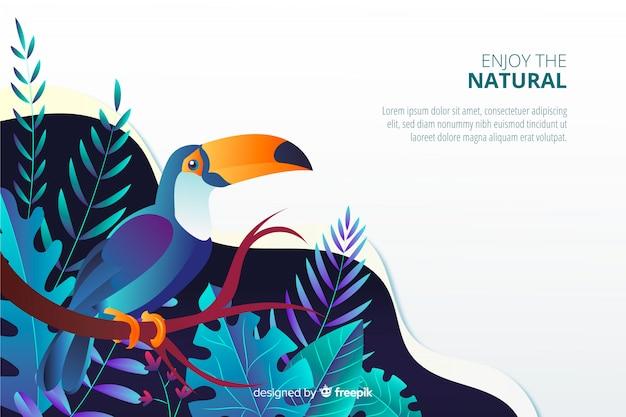 Página de aterragem da natureza