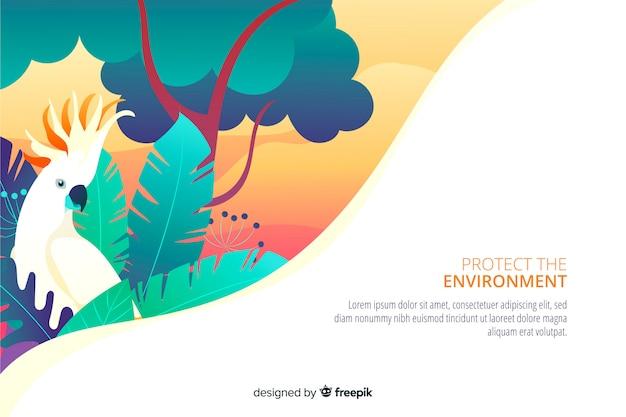 Página de aterragem do ambiente