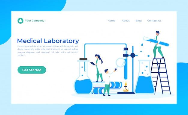 Página de aterragem do laboratório médico