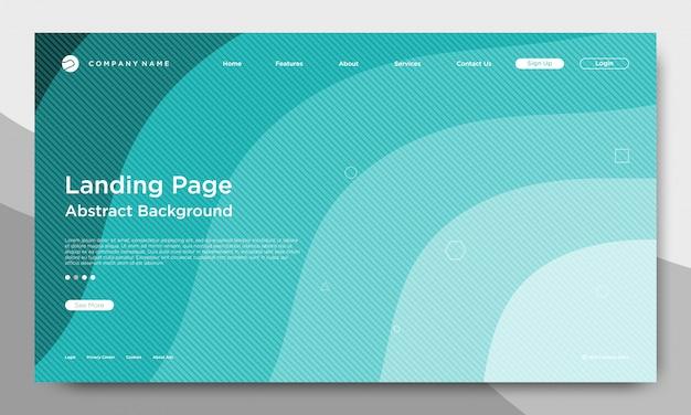 Página de aterragem do site, abstrato e moderno