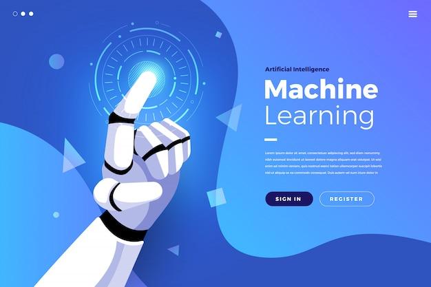 Página de aterragem inteligência artificial