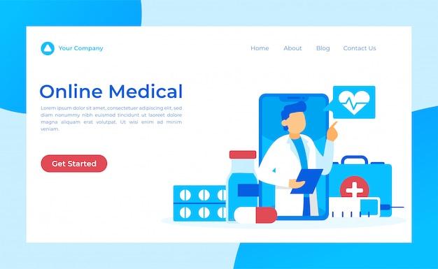 Página de aterragem médica on-line