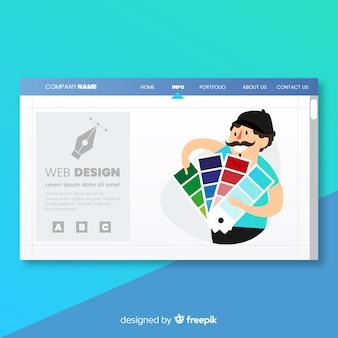 Página de aterrissagem com conceito de design web