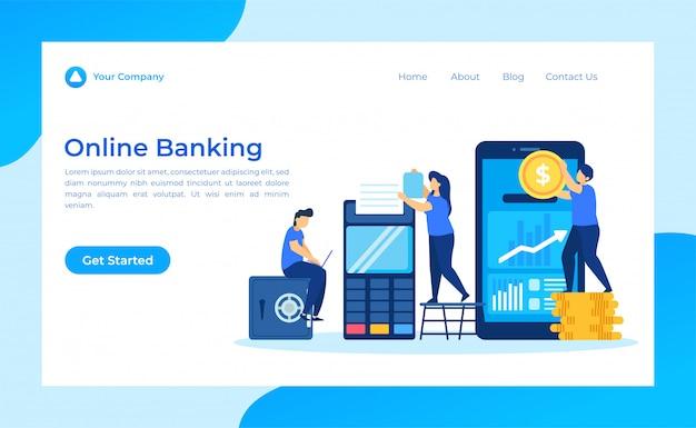 Página de aterrissagem do banco on-line