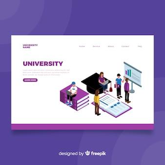 Página de aterrissagem universitária