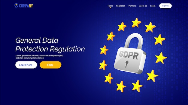 Página de carregamento para o regulamento geral de proteção de dados