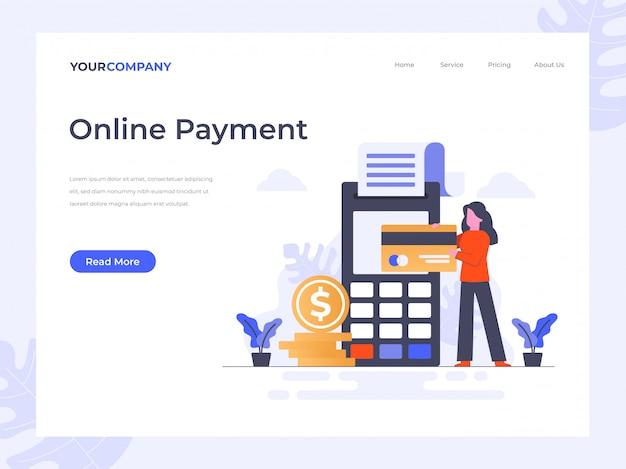 Página de chegada do pagamento on-line