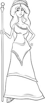 Página de colorir da deusa egípcia hera