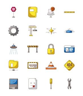 Página de conjunto de ícones não encontrada