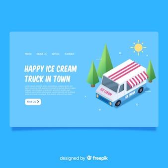 Página de desembarque de caminhão de sorvete