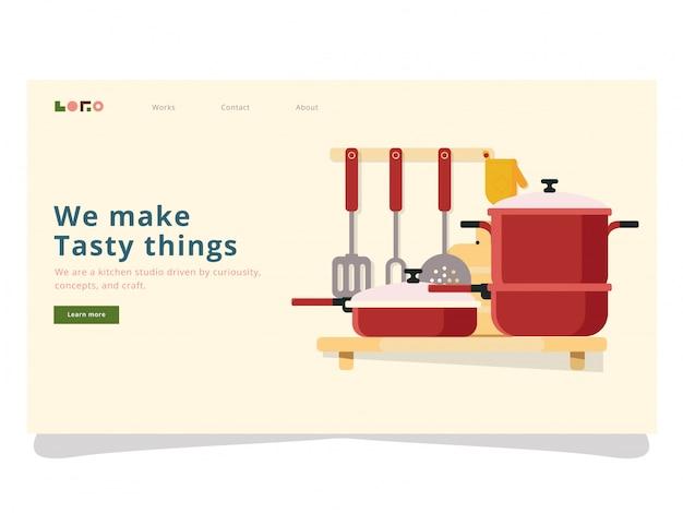 Página de desembarque de cozinha