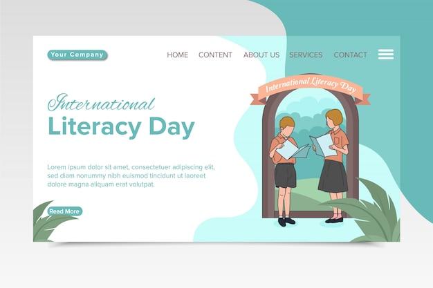Página de desembarque do dia internacional da literacia