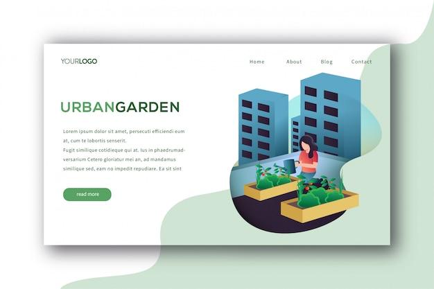 Página de desembarque do jardim urbano