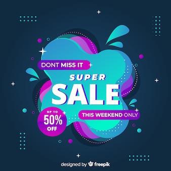 Página de destino abstrata da promoção de vendas