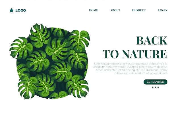 Página de destino botânica