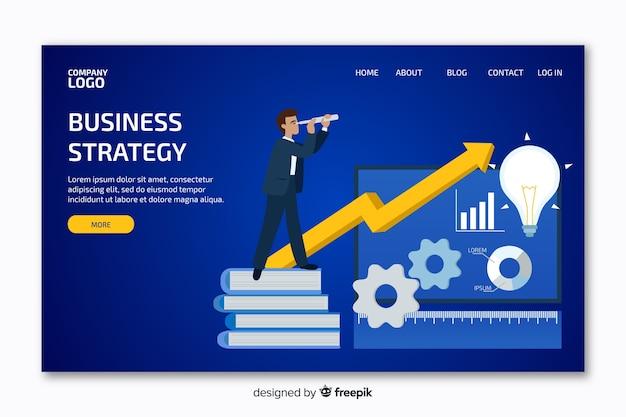Página de destino com gráfico de negócios