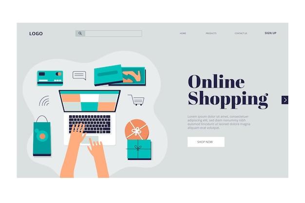 Página de destino compras online