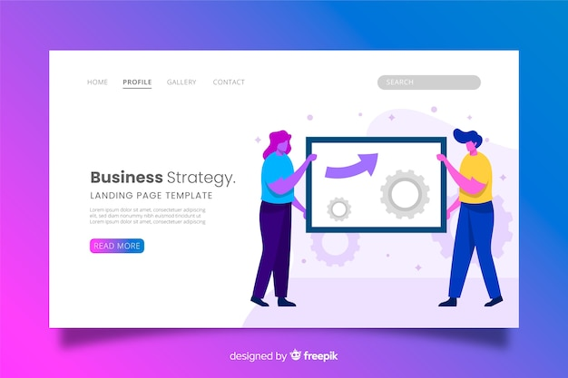 Página de destino da abordagem de negócios