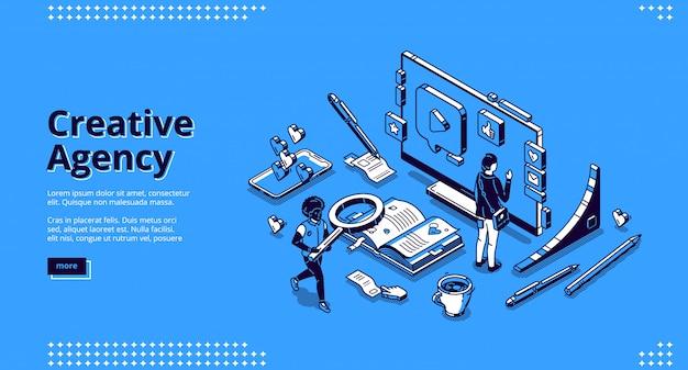 Página de destino da agência de criação