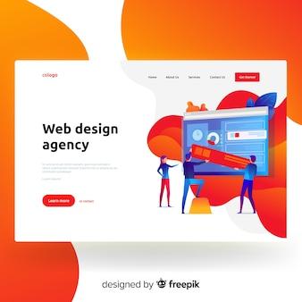 Página de destino da agência de design da web