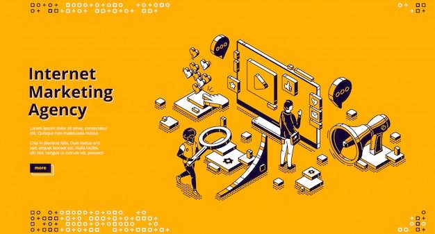 Página de destino da agência de marketing na internet
