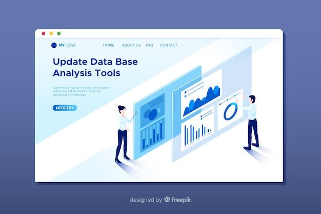 Página de destino da análise de dados
