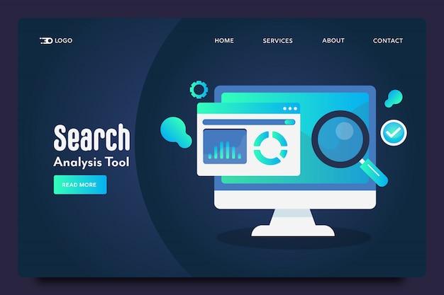 Página de destino da análise de pesquisa