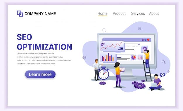 Página de destino da análise de seo na web