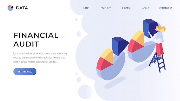 Página de destino da auditoria financeira