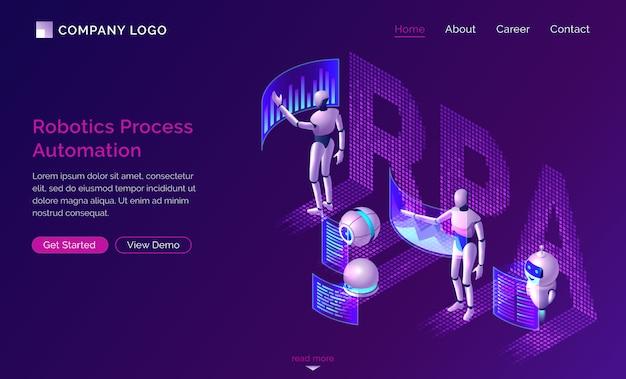 Página de destino da automação de processos robóticos