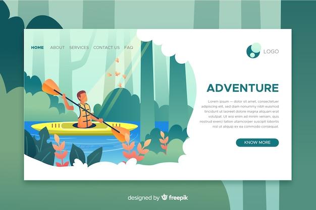 Página de destino da aventura