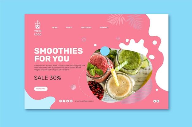 Página de destino da barra de smoothies