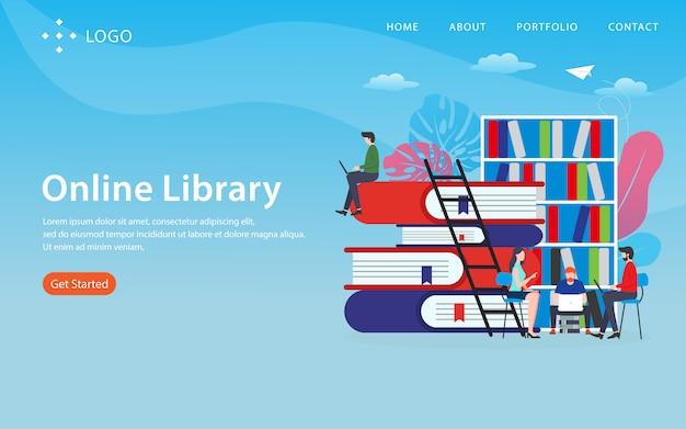 Página de destino da biblioteca on-line