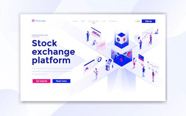 Página de destino da bolsa de valores