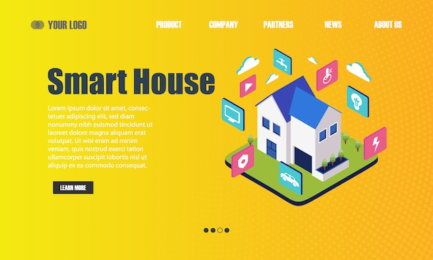 Página de destino da casa inteligente