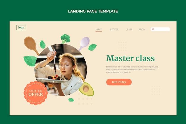Página de destino da classe mestre de design plano