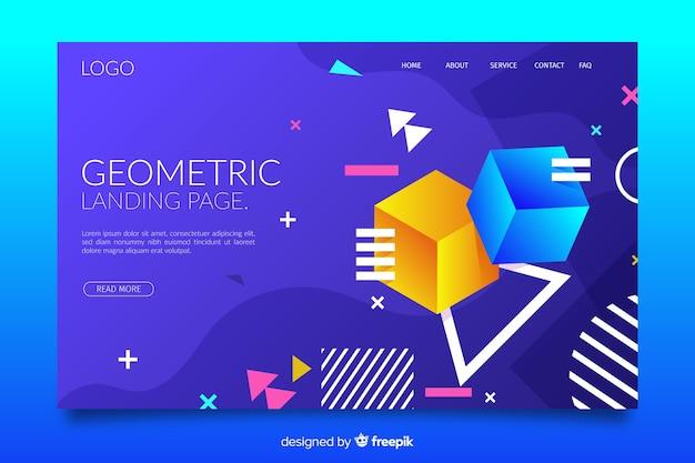 Página de destino da coleção de formas geométricas