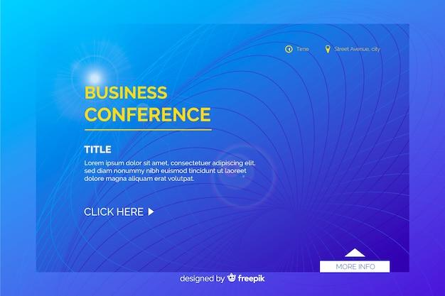 Página de destino da conferência