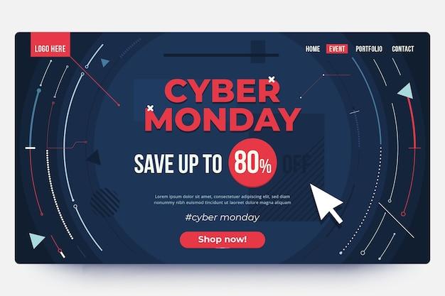 Página de destino da cyber monday