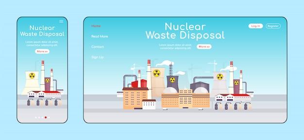 Página de destino da disposição de resíduos nucleares