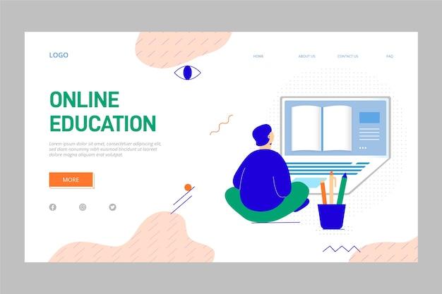 Página de destino da educação on-line