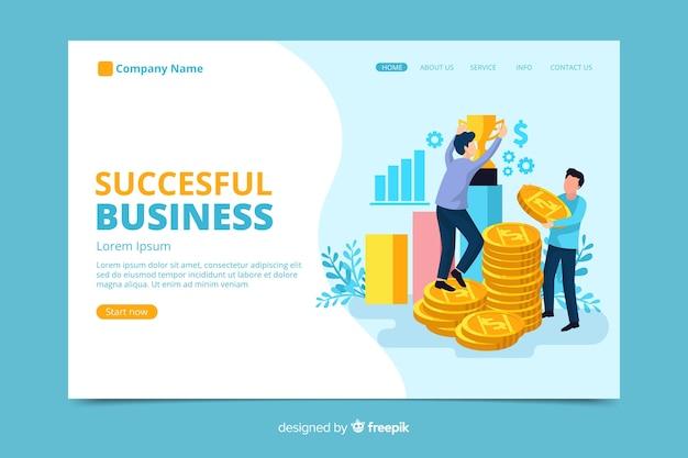 Página de destino da empresa bem-sucedida
