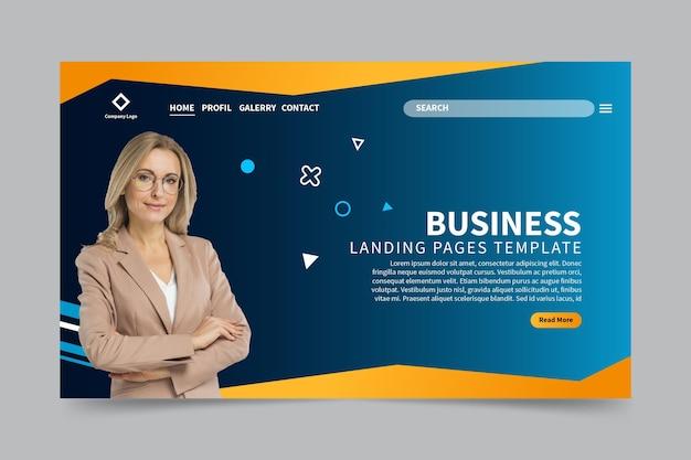Página de destino da empresa