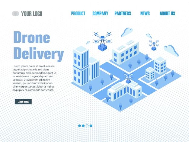 Página de destino da entrega do drone