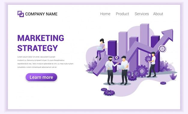 Página de destino da estratégia de marketing.