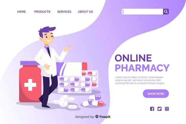Página de destino da farmácia